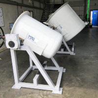 PVDF/GFK Behälter mit Drehgestell